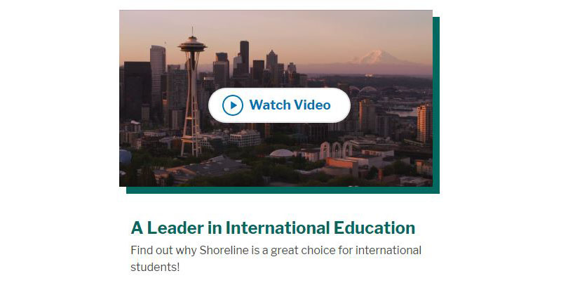 Shoreline Community College addresses issues facing international students in this video